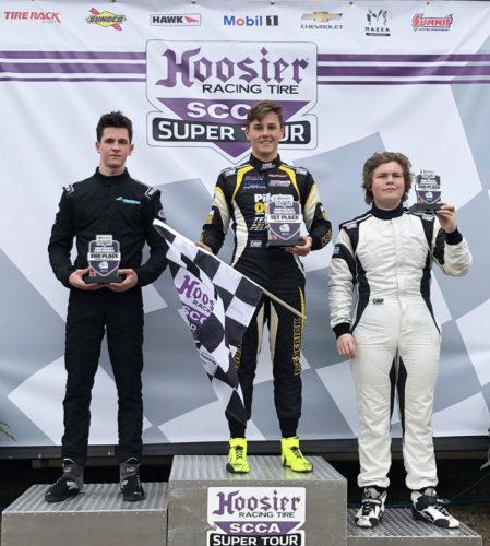 pilot one racing | kaylen frederick | winners podium
