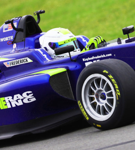 pilot one racing | kaylen frederick | race car closeup