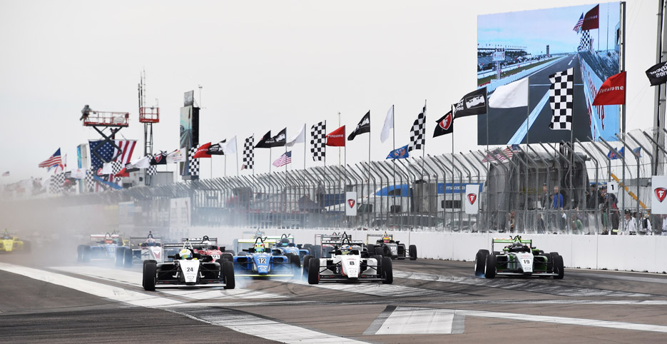 pilot one racing | kaylen frederick | race cars racing and smoke on track