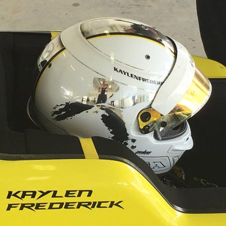 pilot one racing | kaylen frederick | racing helmet
