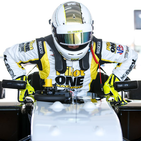 pilot one racing | kaylen frederick | kaylen getting into race car